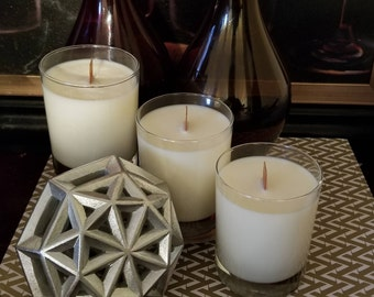 Scented 100% Soy Candle with Wood Wick