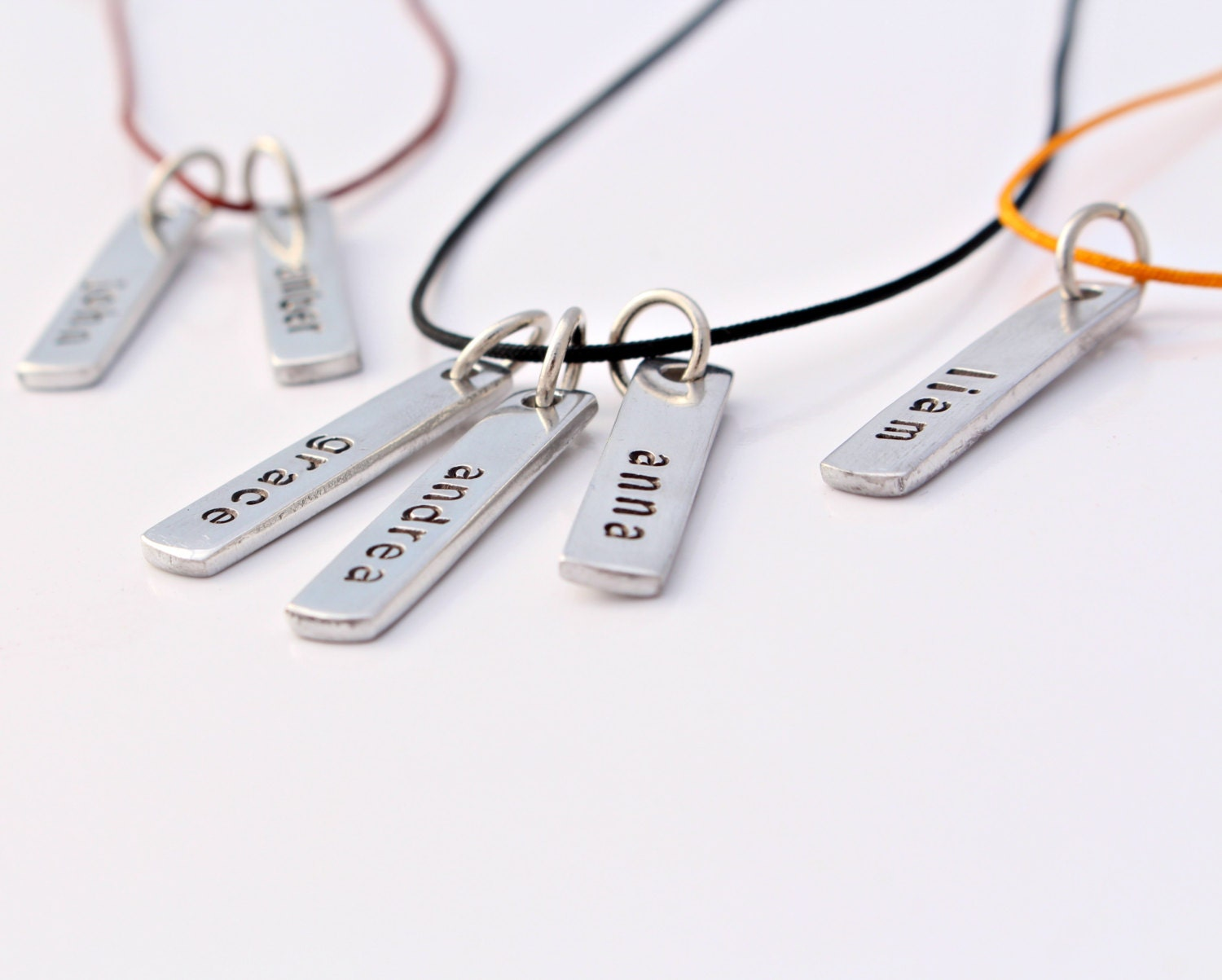 Silver Initial/ Name Necklace Aluminum Sterling Silver