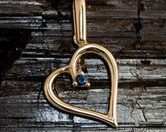 "Pendant ""Heart"" with Ruby, sapphire or CZ"