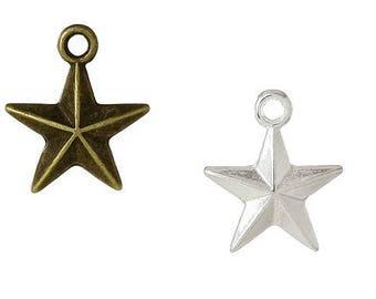Star, Star, Star earrings, vintage style, charm