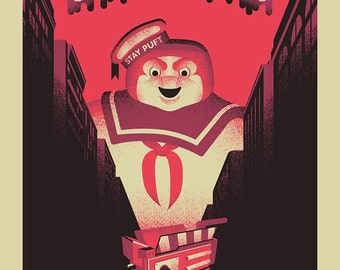 GHOSTBUSTERS Screen Printed Poster