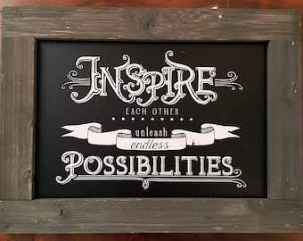 Inspire Each Other, Create Endless Possibilities Wall Decor