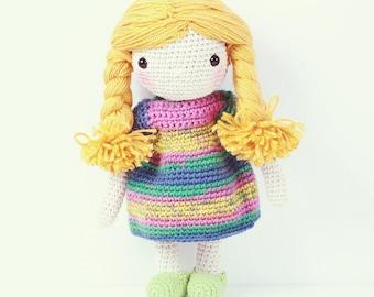 Crochet doll - Over the rainbow