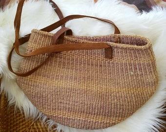 Vintage Sisal Jute Shoulder Bag