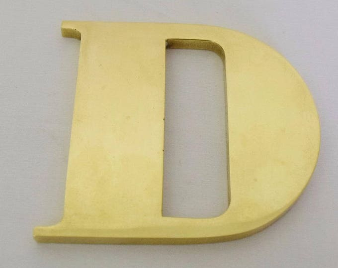 Vintage 1950's MCM 1950's Signed Carl Aubock Made in Austria Brass Paperweight Letter D