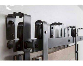 new style bypass barn door hardware /Sliding door kit 5ft 6ft 6.6ft 7.5ft 8ft 10ft 12ft
