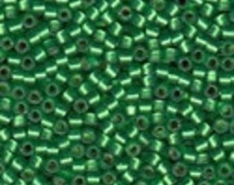 MIYUKI #11 Delica 0688 - Semi Matte Silver Lined Green - 5 grams