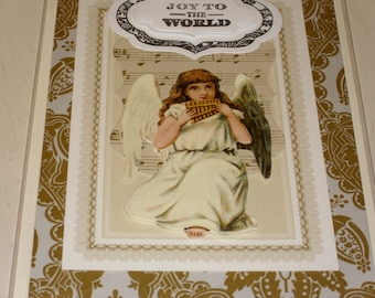 Christmas Joy To The World Angel Card