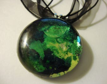 Alcohol Ink inspired Pendant