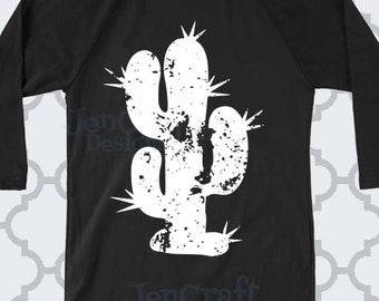 Distressed Cactus Monogram svg, Desert Cacti, Western, Aztec, Grunge cut file, SVG, Eps, Dxf, Png Clipart Cricut Explorer, Silhouette