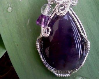Pear Shaped Amethyst Pendant
