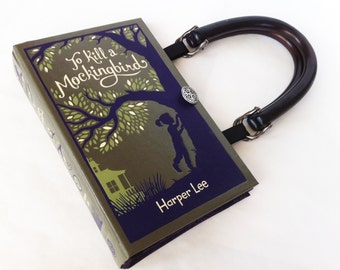 To Kill A Mockingbird Recycled Book Purse - Leather bound Book Purse - Banned Book Purse - Book Cover Handbag - Literary Gift