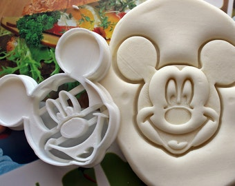 Mickey Mouse Cookie Cutter / Made From Biodegradable Material / Brand New / Party Favor / Kids Birthday / Baby Shower / Cake Topper