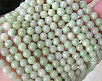 6mm Ching Hai Jade, Green jade, chinese jade, full strand, A quality, green jade beads, chinese jade beads, 6mm green jade