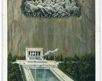 Civil War Sculpture Memorial Stone Mountain Georgia postcard