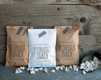 Wedding Favor Bags - Midnight Snack Bags, Rehearsal Dinner, Engagement Party, Popcorn Bags, Donut Bags, Candy Buffet Bags, Sweet Bags