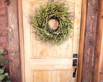 Winter Door Wreath-Rustic Home Decor-Twig Wreath-Fall Twig Wreath-Summer Wreath-SCENTED Wreaths -Custom Wreaths- Housewarming Gifts-Made USA