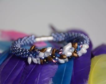 Blue Sparkly Dragon Bracelet