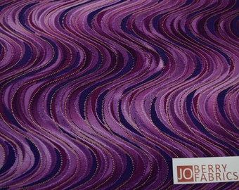 Wavy Stripe from the Pansy Noir Collection by Greta Lynn for Kanvas with Benartex, Fabric by the Yard, JoBerry Fabrics.