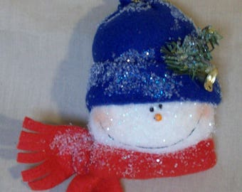 Two Snowman Christmas Ornament PDF Patterns stuffed easy sewing
