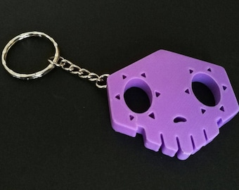 Overwatch Sombra cosplay Charm Key Ring Chain Skull hacked Cosplay prop gift