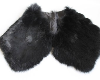 Black Fur Collar Vintage / Fur Collar / Collar Coat / Fur Scarf