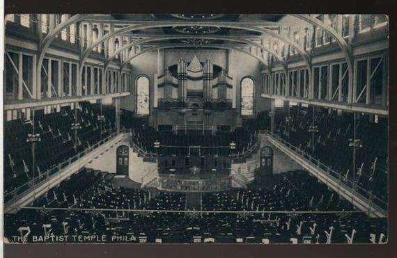 Baptist Temple Philadelphia + Vintage Photo Postcard