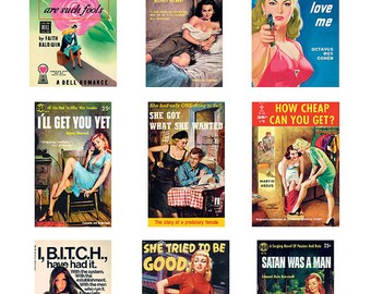 Pulp Art Stickers - Best of 9 Theme Set - ATTITUDES