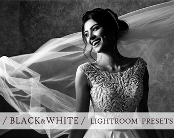 100 BLACK and WHITE lightroom presets