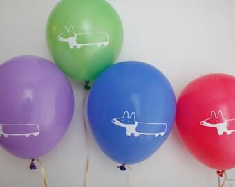 10 - Corgi Party Balloons