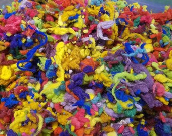 CRAZY Wool Merino Nubbies multi colored felting blending texture