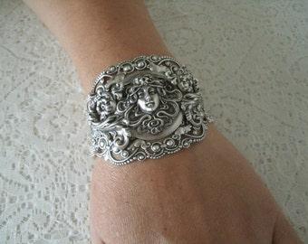 Art Nouveau Bracelet, art nouveau jewelry victorian jewelry edwardian jewelry renaissance medieval neo victorian art deco gothic bracelet