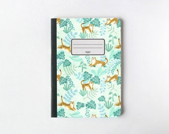 Tigres et pages de léopards Notebook - pages blanches Journal - Sketchbook - - Lined