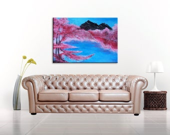 Acrylic Painting Abstract Painting Abstract Art Canvas Art Wall Decor Abstract Landscape Painting Original Painting Wall Art Painting