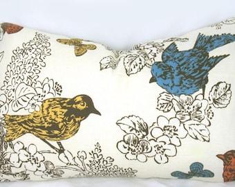Thomas Paul Perch Multi - Decorative Pillow Cushion Cover - Accent Pillow - Throw Pillow - Natural, Bird