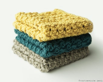 CROCHET PATTERN - Post Stitch Dishcloth Sampler - Instant Download (PDF)