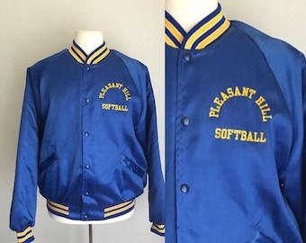 Vintage King Louie Pleasant Hill Softball Snap Front Jacket Baseball XL 80s