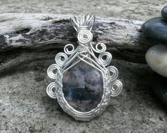 Australian Pink Opal Pendant Boutique Unique Couture Designer Jewellery Gift for Her Goddess Wirework Perfect