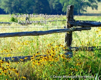Look at the Flowers Perfume Oil - The Walking Dead inspired - Bright sunflowers, roasted pecans, sugar, pastry, woods, gunpowder