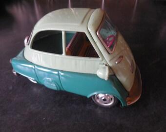SALE....Isetta Tin Italian Car...Bandai B588...BMW Microcar Rare Toy Collectible