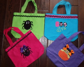 Boutique Halloween Small Trick or Treat Personalized Bag