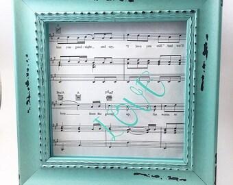 Sheet music gift -Valentine day gift-Gift for girlfriend- gift for boyfriend - gift for husband- gift for musician- gift for music lover-
