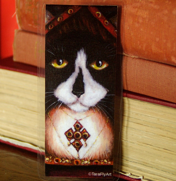 Catherine Aragon Tuxedo Cat Tudor Bookmark