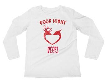 Good Night Deer! Pajama Sleepwear Ladies' Long Sleeve T-Shirt