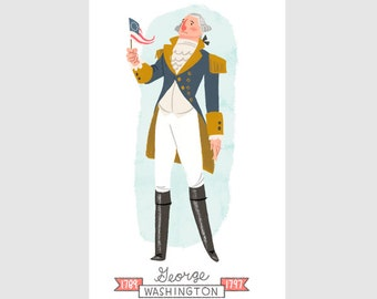 Standing Washington Print