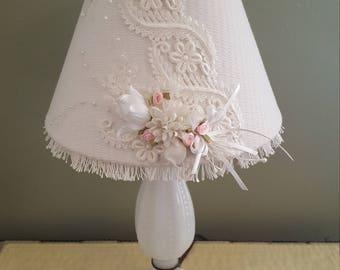Shabby chic lamp etsy shabby chic table lamp wedding decorlittle girls room or girls nursery lamp aloadofball Choice Image