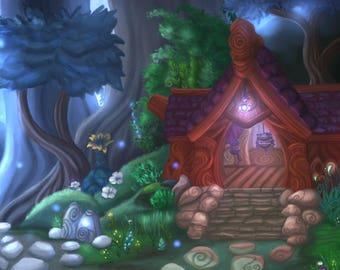 Val'sharah - World of Warcraft Art Print (6x9)