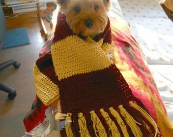 Wizarding School House Scarf- MADE to ORDER - Choose your house color