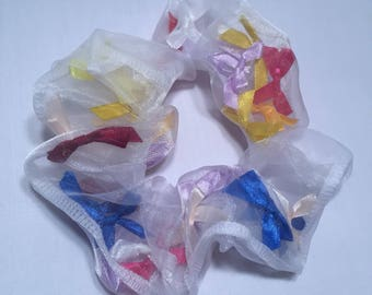 Ribbon Bow Hair Scrunchie