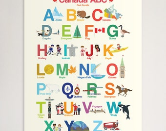 "Canada ABC 18""x24"" Poster"